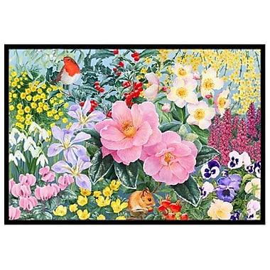 Caroline's Treasures Winter Floral Doormat; 1'6'' x 2'3''