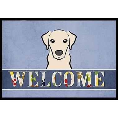 Caroline's Treasures Yellow Labrador Welcome Doormat; 1'6'' x 2'3''