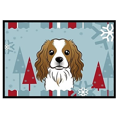 Caroline's Treasures Winter Holiday Cavalier Spaniel Doormat; 1'6'' x 2'3''