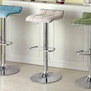 Hokku Designs Adjustable Height Swivel Bar Stool; Ivory