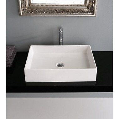 Scarabeo by Nameeks Teorema Rectangular Vessel Bathroom Sink