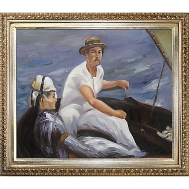 Tori Home Boating by Edouard Manet Framed Painting Print