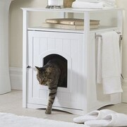 Merry Products Allen Litter Box End Table; White