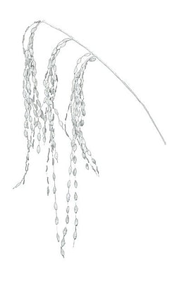 Fantastic Craft Glitter Leaf Spray; White