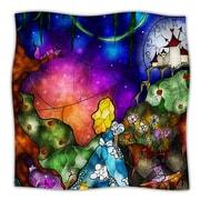 KESS InHouse Fairy Tale Alice In Wonderland Throw Blanket; 40'' L x 30'' W