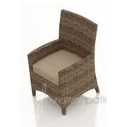 Forever Patio Cypress Patio Dining Chair w/ Cushion; Spectrum Mushroom / Spectrum Sand Welt