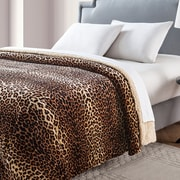 VCNY Nigel Animal Printed Sherpa Reversible Blanket; Full/Queen
