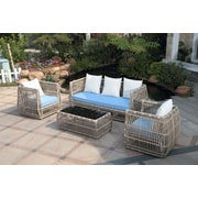 Ceets Chavaughn 4 Piece Deep Seating Group w/ Cushions