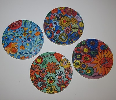 Metrotex Designs 4 Piece 'Artists w/ Autism' Design Coaster Set