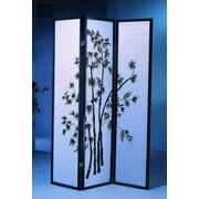 Roundhill Furniture 71'' x 54'' Bamboo 3 Panel Room Divider
