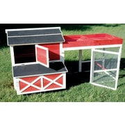 Merry Products Barn Chicken Coop w/ Roof Top Planter