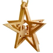 CarversArt 3-D Star Nativity Ornament