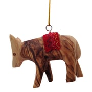CarversArt Donkey w/ Red Saddle Ornament
