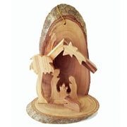 CarversArt Nativity Ornament w/ Bark Ornament