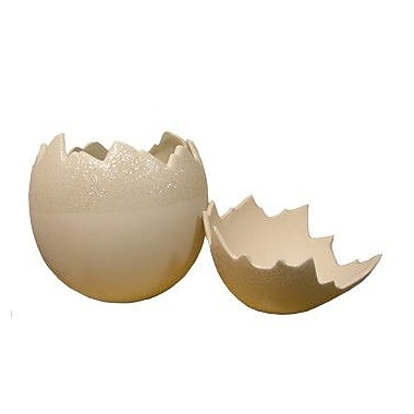 Fantastic Craft Egg Shell Sculpture; Cream