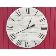 essex hand crafted wood products Oversized 34'' Shenfield Vintage Style Painted Wood Wall Clock
