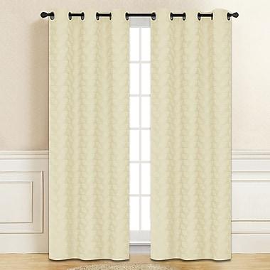 Dainty Home Cadene Curtain Panels (Set of 2); Ivory
