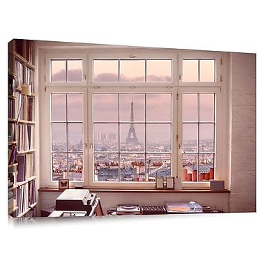 Colossal Images 'Eiffel Tower View Inside Room' by Assaf Frank Photographic Print on Canvas