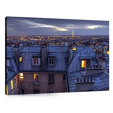 Colossal Images 'Rooftop View Eiffel Tower' by Assaf Frank Photographic Print on Canvas