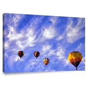 Great Big Photos 'Hot Air Balloons Taking off' by Dennis Frates Photographic Print on Canvas