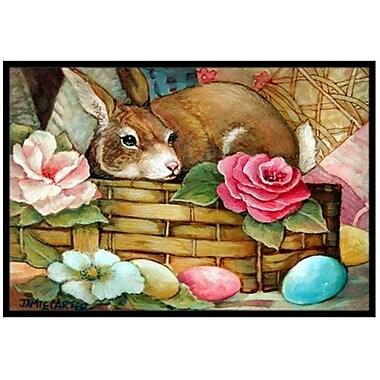 Caroline's Treasures A Touch of Color Rabbit Easter Doormat; 2' x 3'