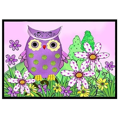 Caroline's Treasures Who is Your Friend Owl Doormat; 2' x 3'