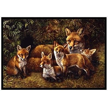 Caroline's Treasures Fox Family Foxes Doormat; 1'6'' x 2'3''