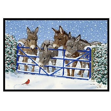Caroline's Treasures Donkeys and Cardinal Doormat; 1'6'' x 2'3''