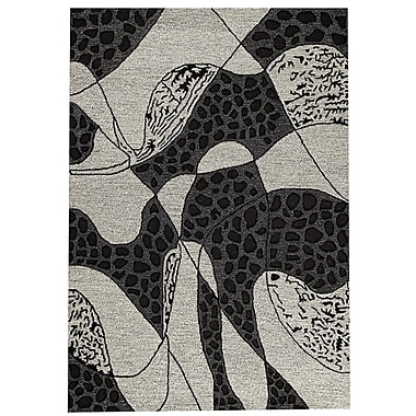 Hokku Designs Riddle Hand-Tufted White Area Rug; 5'2'' x 7'6''