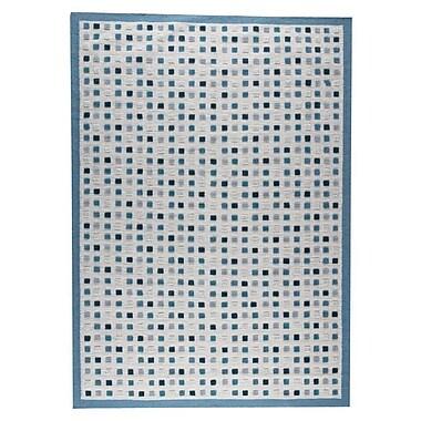 Hokku Designs Khema1 Hand-Woven Turquoise Area Rug; 5'6'' x 7'10''