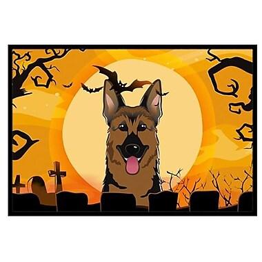 Caroline's Treasures Halloween German Shepherd Doormat; 2' x 3'