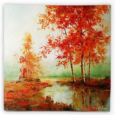 'Autumn's Grace I and II' by T.C. Chiu 2 Piece Framed Painting Print on Wrapped Canvas Set