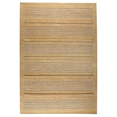 Hokku Designs Boston Hand-Knotted Beige Area Rug; 4'6'' x 6'6''
