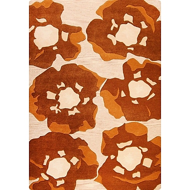 Hokku Designs Poppy Hand-Tufted Brown Area Rug; 5'6'' x 7'10''