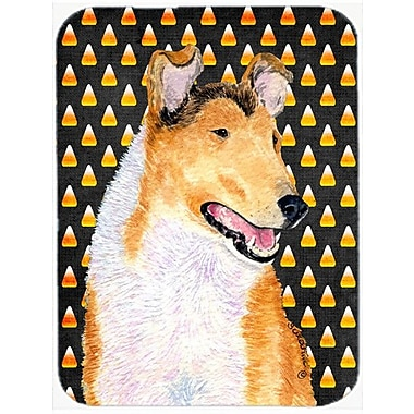 Caroline's Treasures Halloween Candy Corn Smooth Collie Portrait Glass Cutting Board