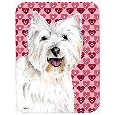 Caroline's Treasures Valentine Hearts Westie Hearts Love Valentine's Day Glass Cutting Board