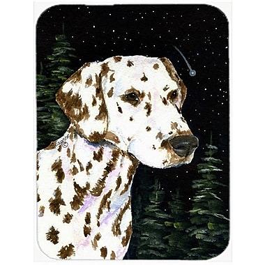 Caroline's Treasures Starry Night Dalmatian Glass Cutting Board