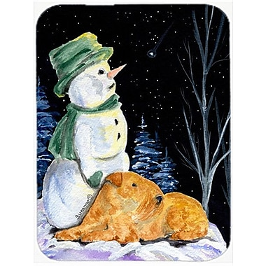 Caroline's Treasures Snowman w/ Lakeland Terrier Glass Cutting Board
