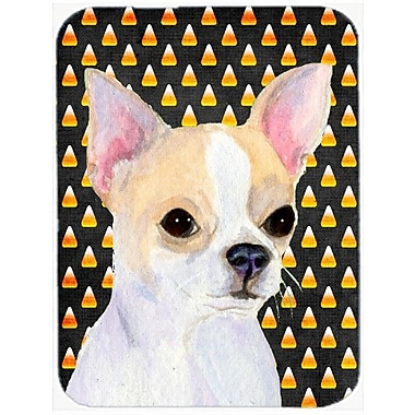 Caroline's Treasures Halloween Candy Corn Chihuahua Portrait Glass Cutting Board