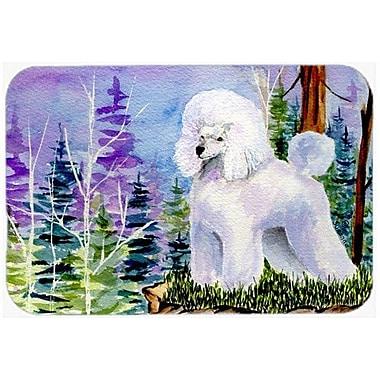 Caroline's Treasures Poodle Glass Cutting Board