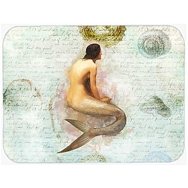 Caroline's Treasures Mermaids and Mernen Glass Cutting Board
