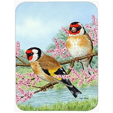 Caroline's Treasures European Goldfinches Glass Cutting Board