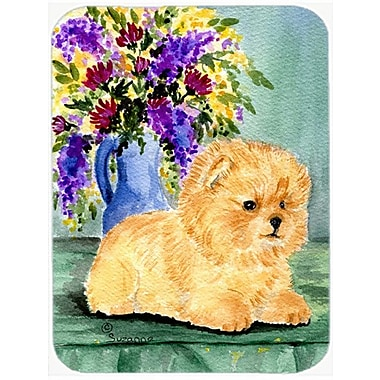 Caroline's Treasures Pomeranian Glass Cutting Board