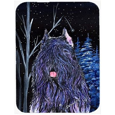 Caroline's Treasures Starry Night Bouvier des Flandres Glass Cutting Board