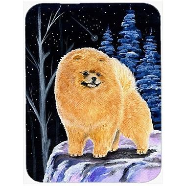 Caroline's Treasures Starry Night Pomeranian Glass Cutting Board