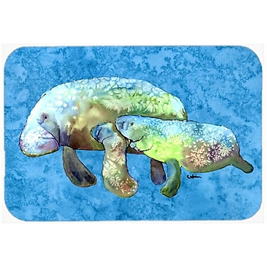 Caroline's Treasures Manatee Glass Cutting Board