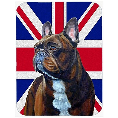 Caroline's Treasures Union Jack French Bulldog w/ English British Flag Glass Cutting Board