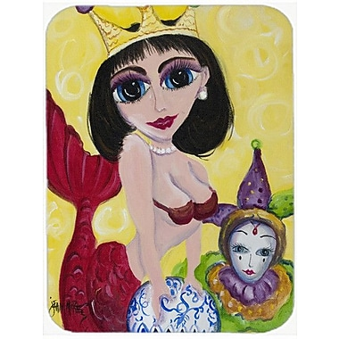 Caroline's Treasures Mardi Gras Queen Mermaid Glass Cutting Board