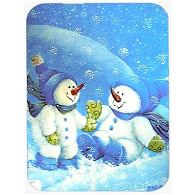 Caroline's Treasures Snow Baby Snowman Glass Cutting Board