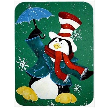 Caroline's Treasures Just Dropping in to Say Hello Christmas Penguin Glass Cutting Board